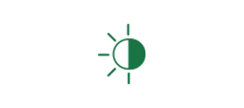 Sun icon indicating improved vision for both day and night