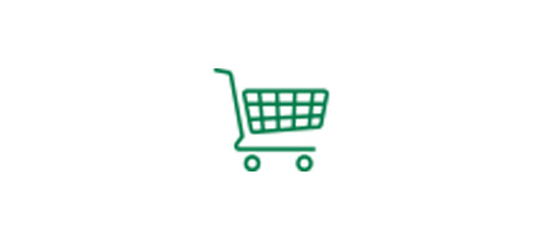 Shopping cart icon indicating improved intermediate vision to make every day tasks easier